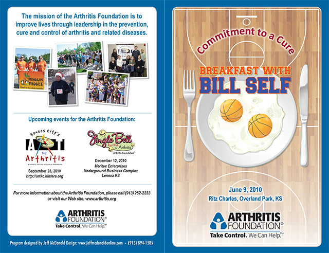 """Breakfast with Bill Self"" program for the Arthritis Foundation"