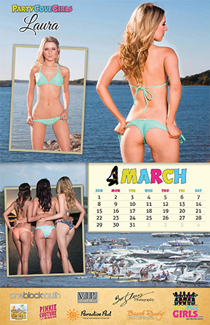 Party Cove Girls 2015 Calendar - March