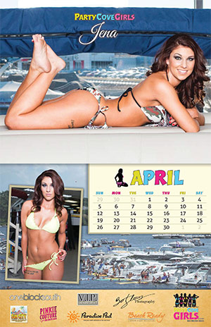 Party Cove Girls 2015 Calendar - April