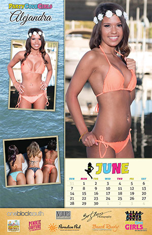 Party Cove Girls 2015 Calendar - June