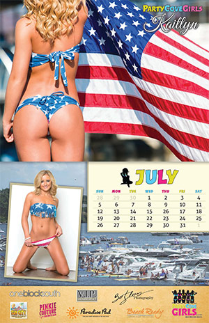 Party Cove Girls 2015 Calendar - July