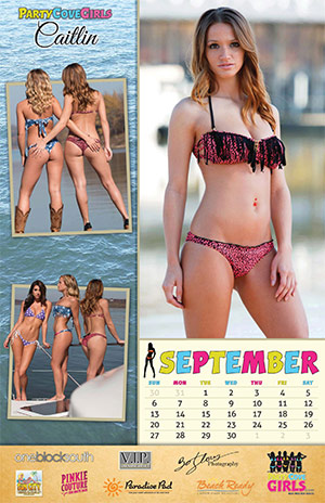 Party Cove Girls 2015 Calendar - September