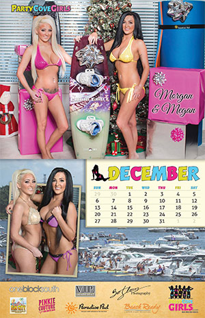 Party Cove Girls 2015 Calendar - December