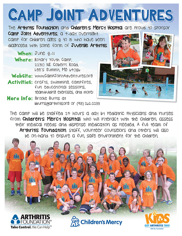 Camp Joint Adventures Sponsored by the Arthritis Foundation Flyer