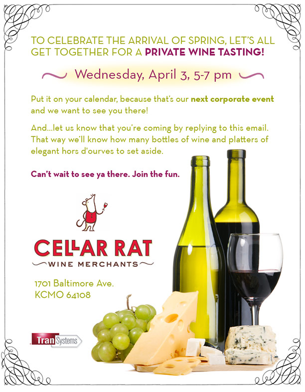 Wine-Tasting Corporate Event Flyer