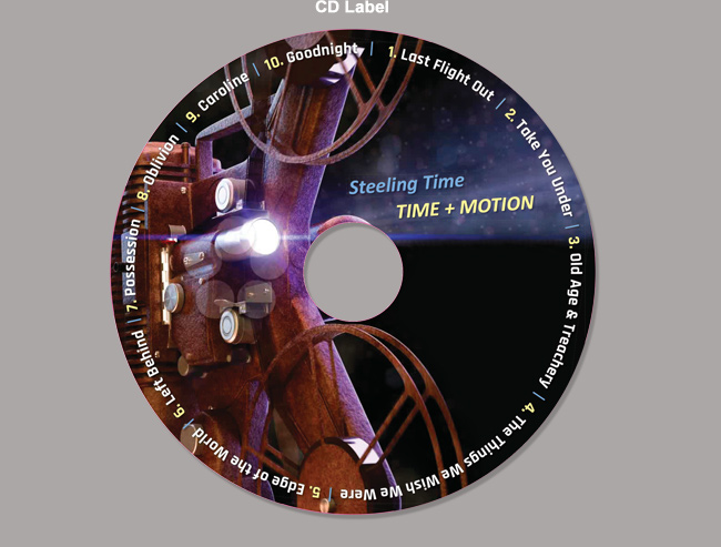 Time & Motion Band's Album CD packaging design