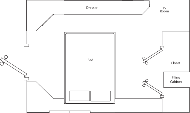 My Old Apartment Floor Plan (to-scale) - Room 2 - Illustration