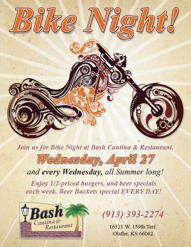 "Resaurant & Cantina ""Bike Night!"" Poster"